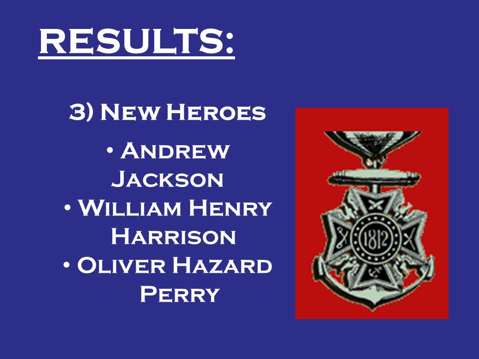 RESULTS: 3) New Heroes Andrew Jackson William Henry Harrison