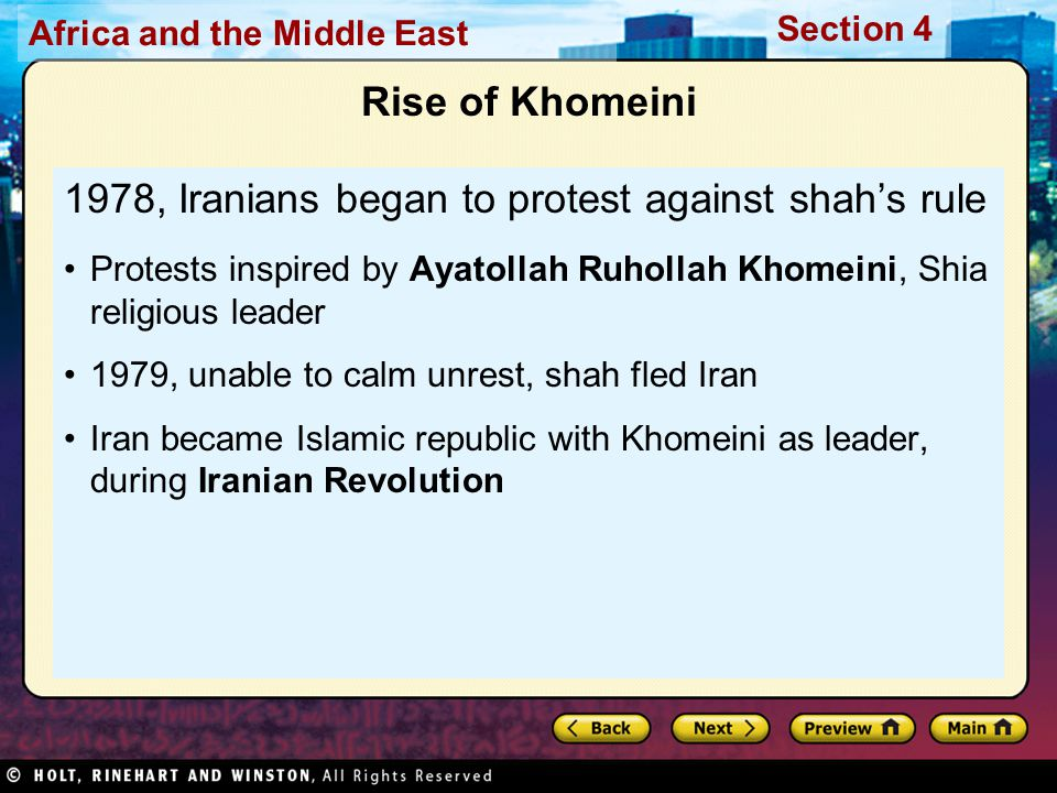 1978, Iranians began to protest against shah's rule
