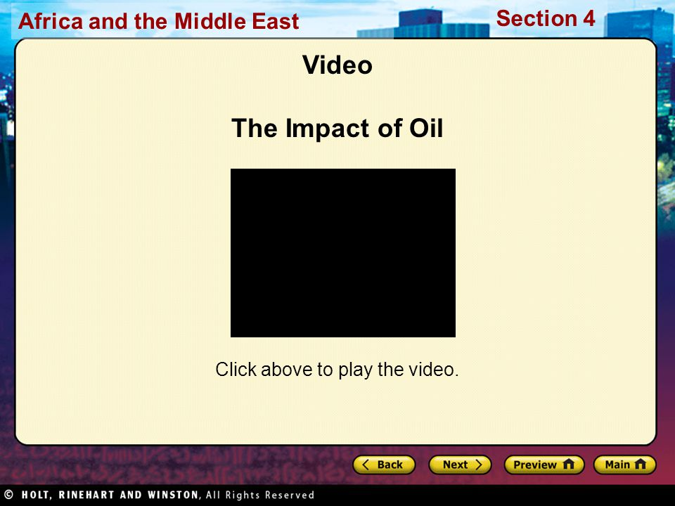 Video The Impact of Oil Click above to play the video.
