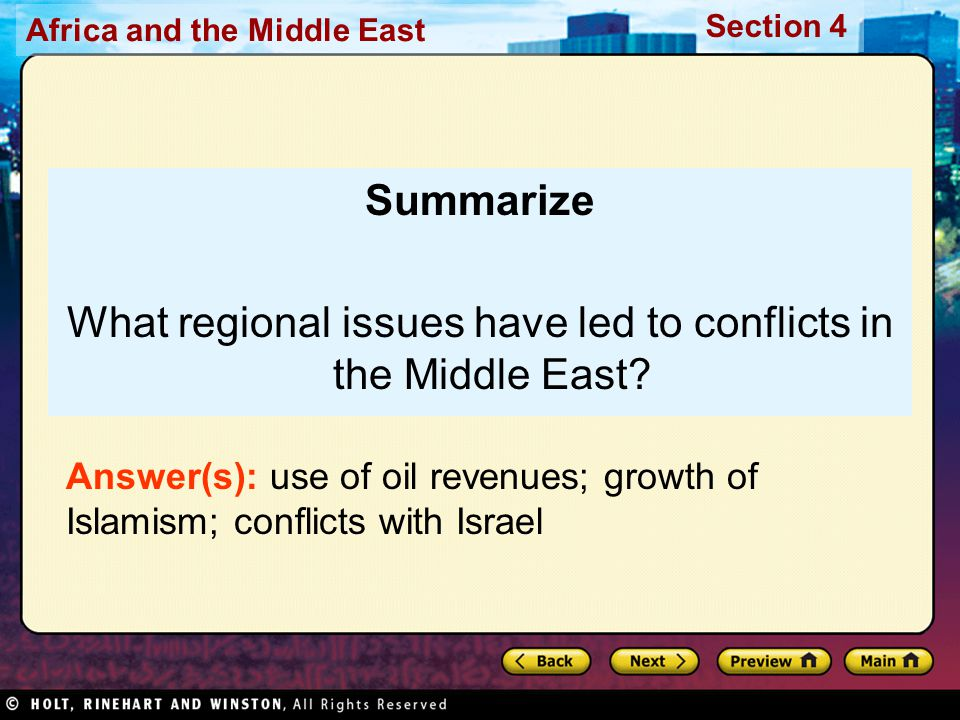 What regional issues have led to conflicts in the Middle East