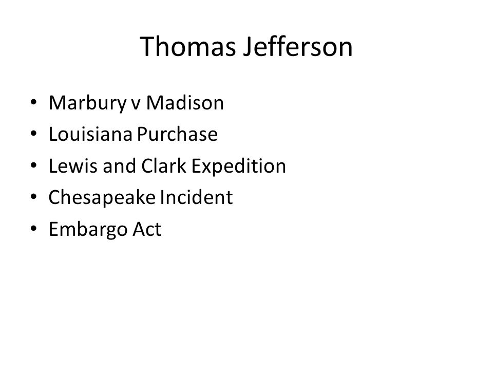 Thomas Jefferson Marbury v Madison Louisiana Purchase