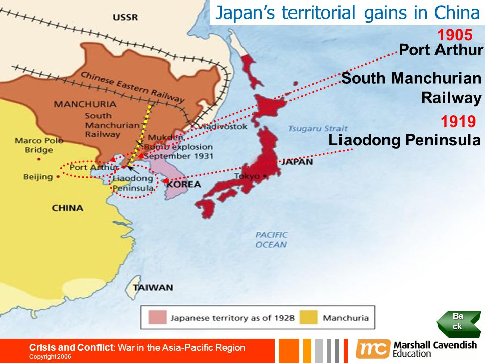 Japan's territorial gains in China