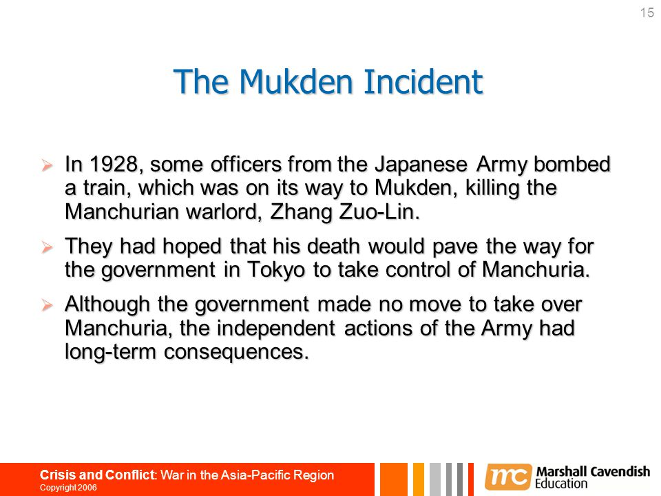 The Mukden Incident