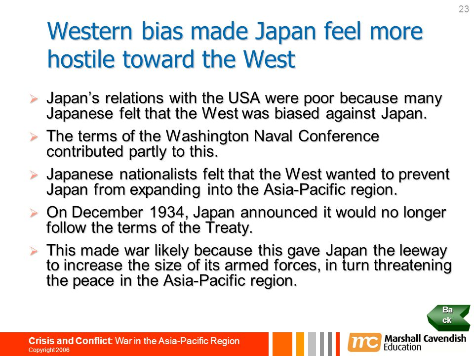 Western bias made Japan feel more hostile toward the West