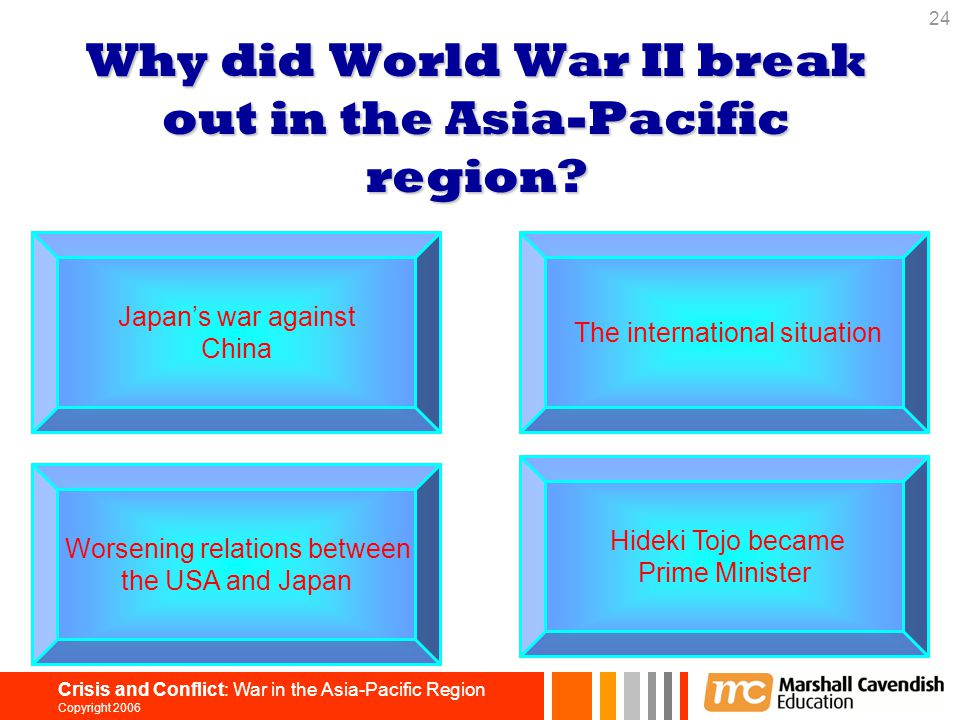 Why did World War II break out in the Asia-Pacific region