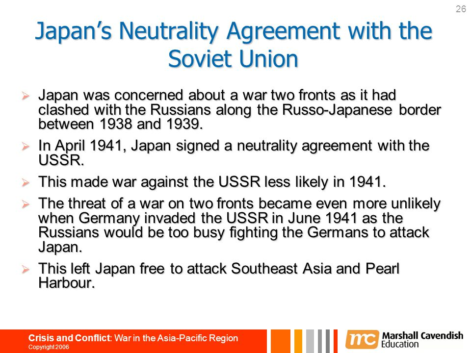 Japan's Neutrality Agreement with the Soviet Union