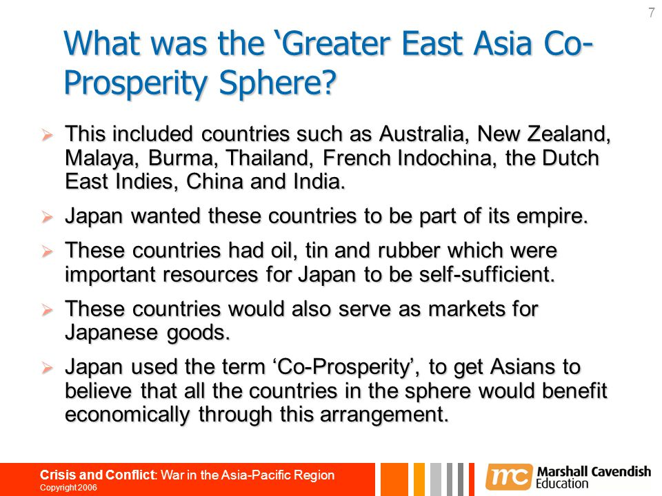 What was the 'Greater East Asia Co-Prosperity Sphere