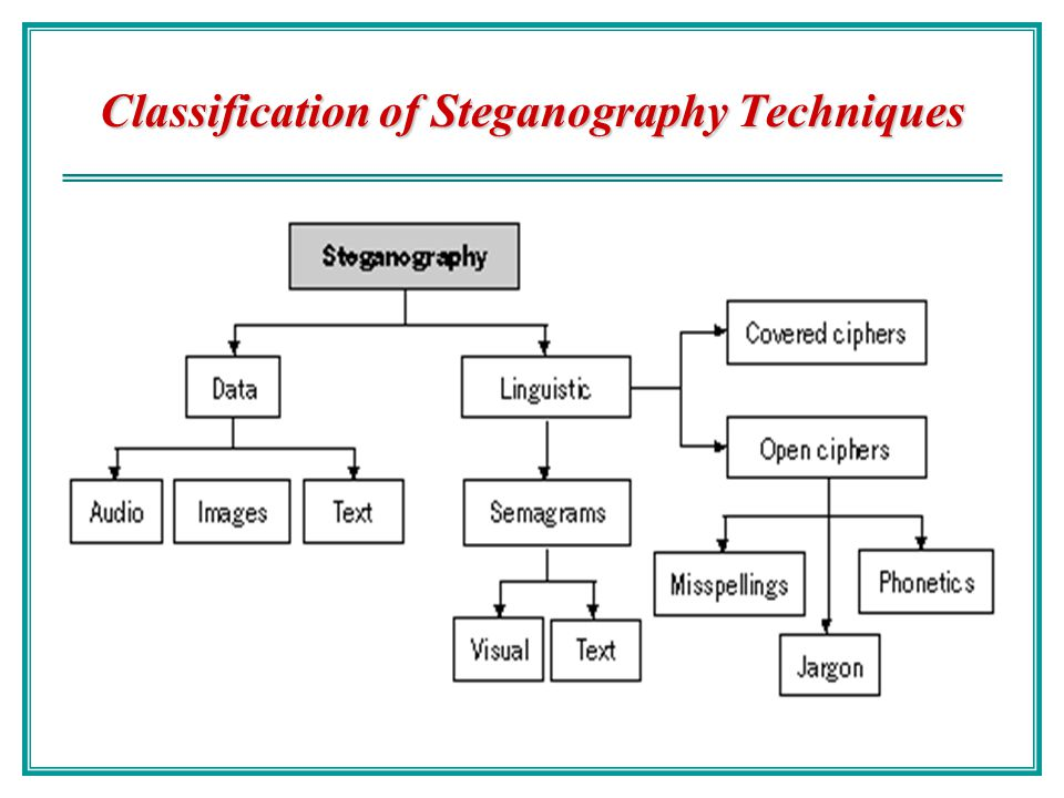 Classification of Steganography Techniques