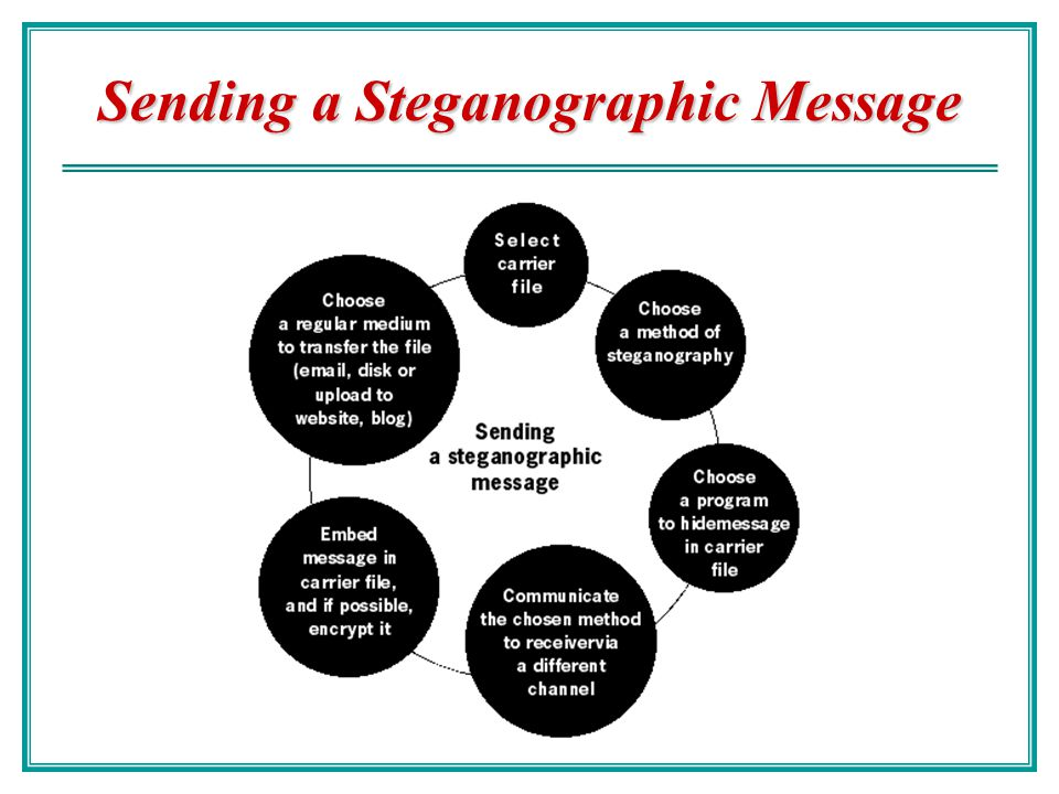 Sending a Steganographic Message
