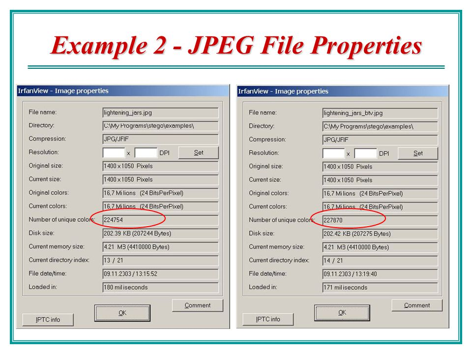 Example 2 - JPEG File Properties