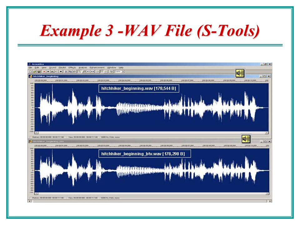 Example 3 -WAV File (S-Tools)
