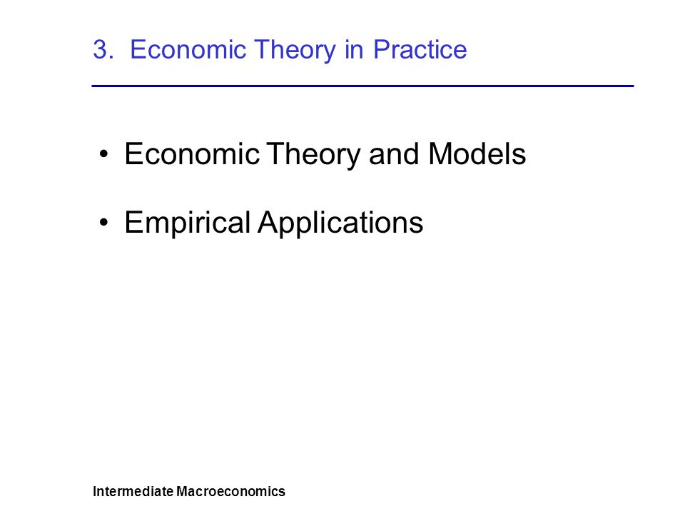 3. Economic Theory in Practice