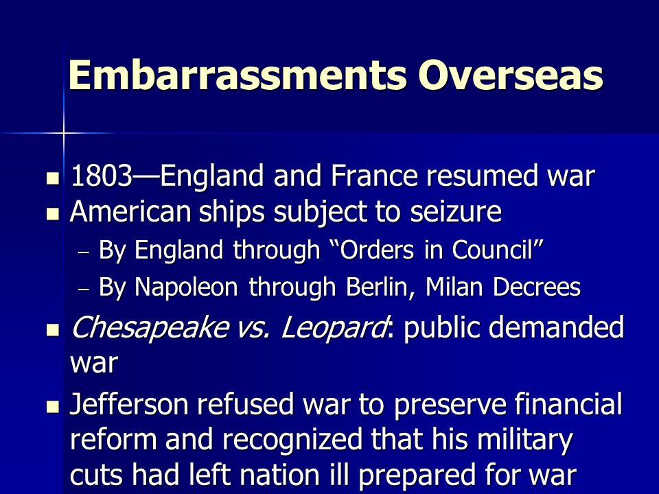 Embarrassments Overseas