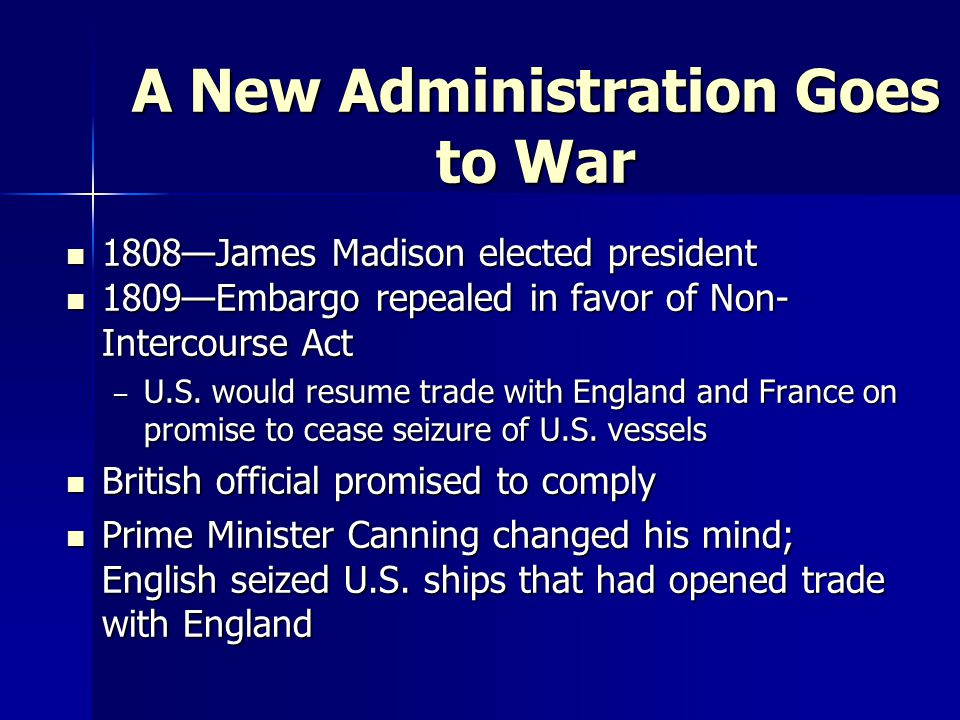 A New Administration Goes to War