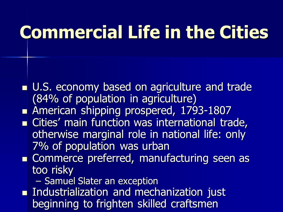 Commercial Life in the Cities