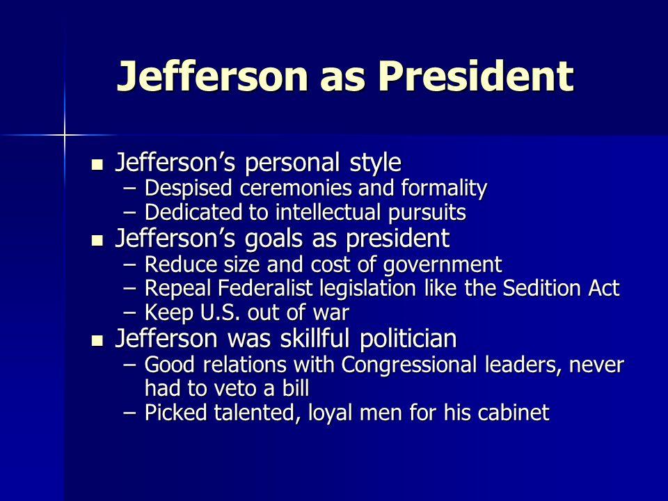 Jefferson as President