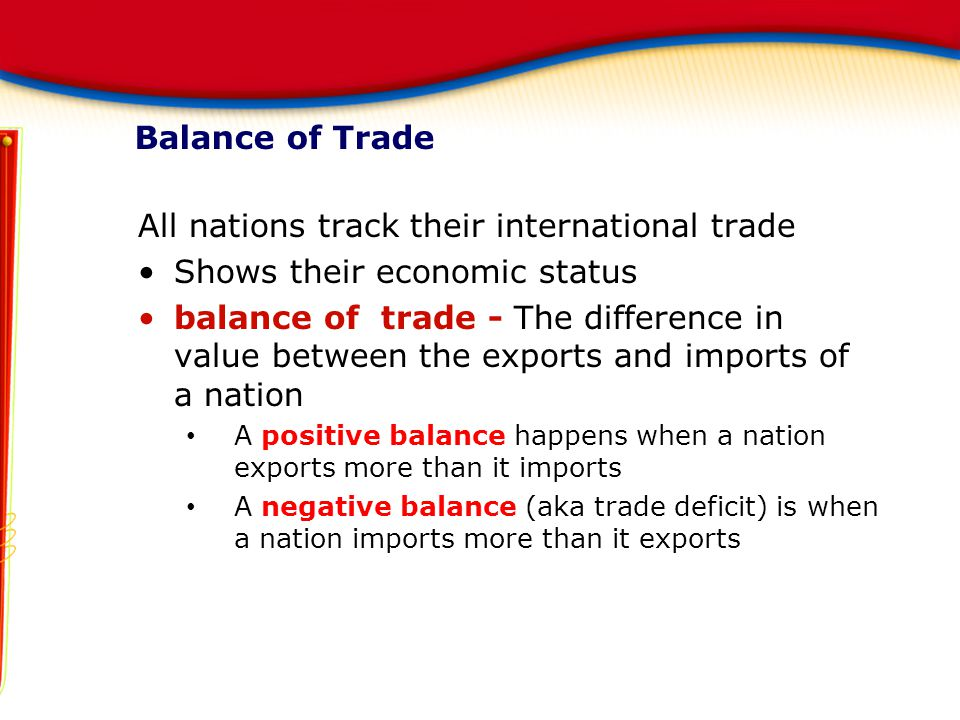 All nations track their international trade