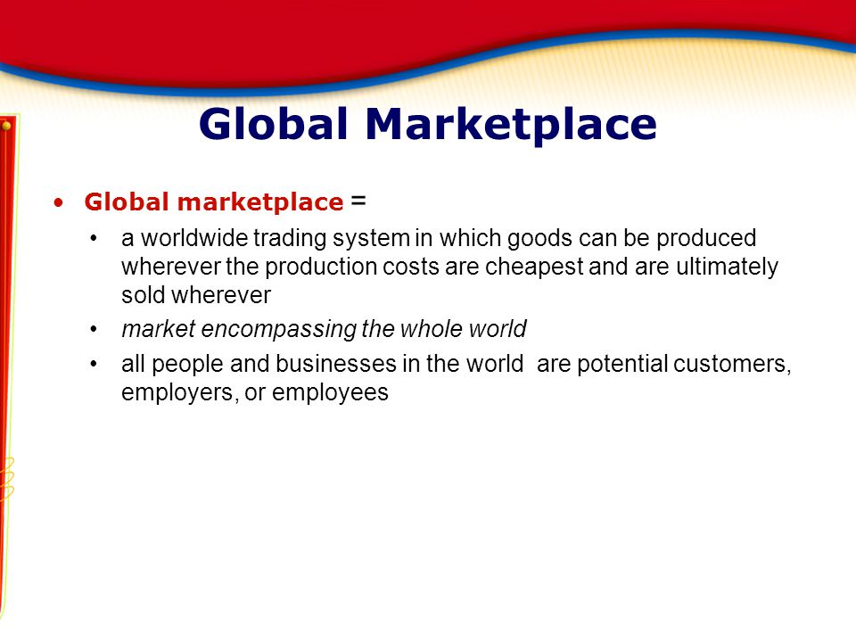 Global Marketplace Global marketplace =