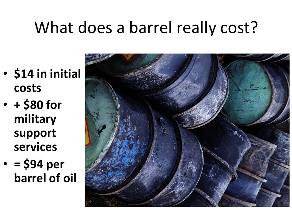 What does a barrel really cost