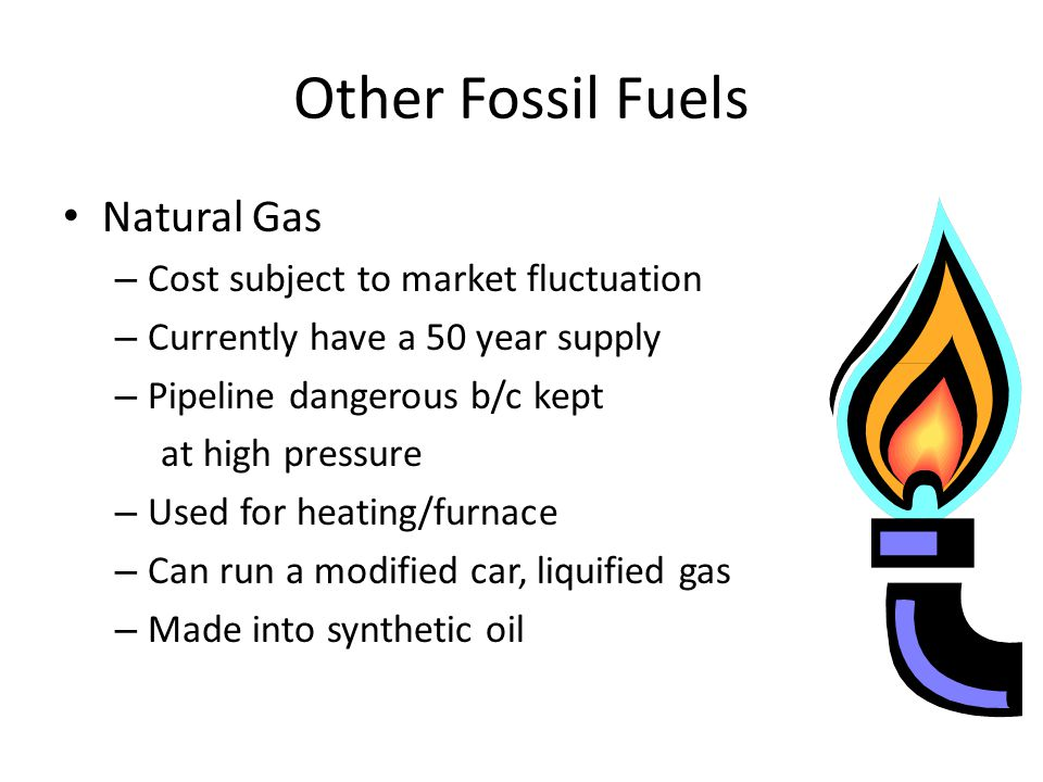 Other Fossil Fuels Natural Gas Cost subject to market fluctuation