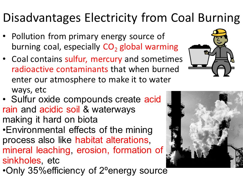 Disadvantages Electricity from Coal Burning