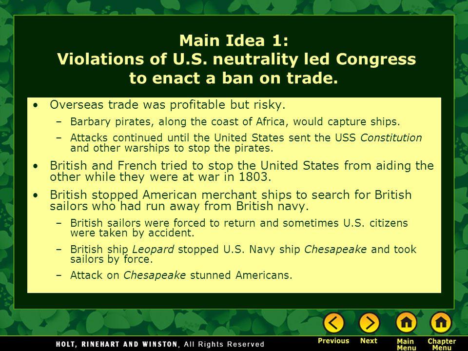 Main Idea 1: Violations of U. S