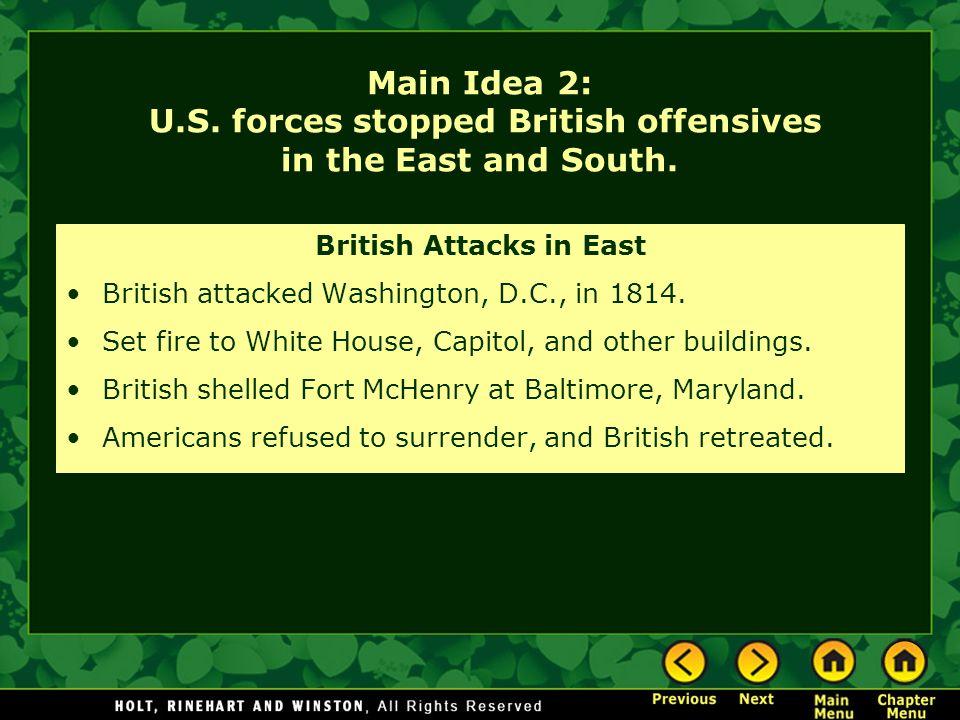 British Attacks in East