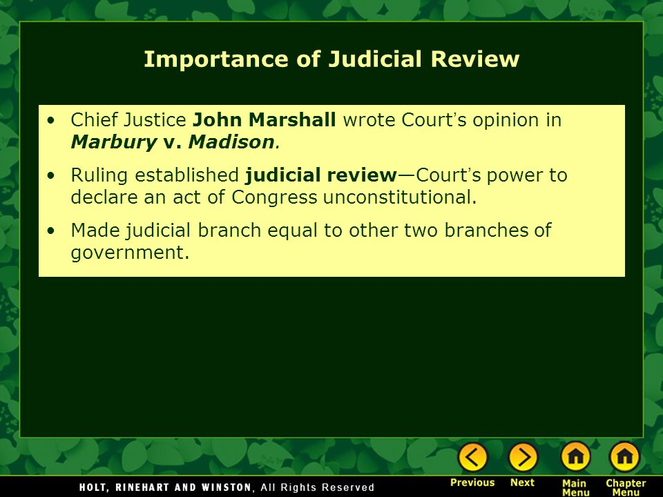 Importance of Judicial Review