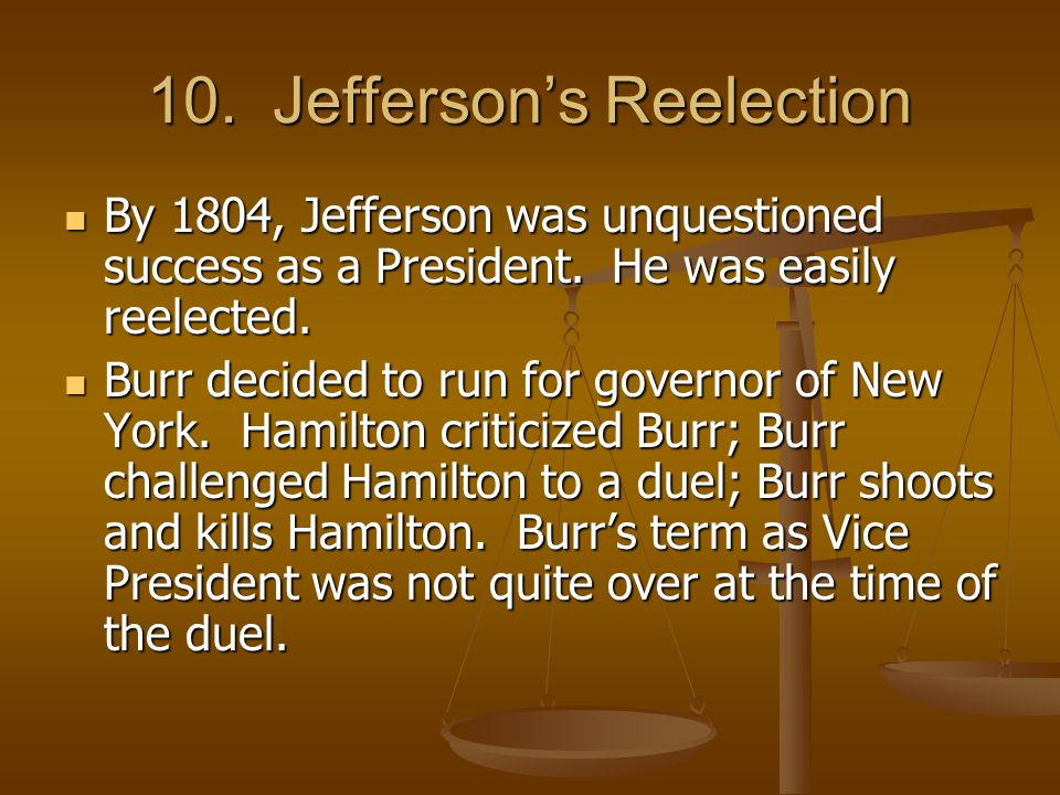 10. Jefferson's Reelection