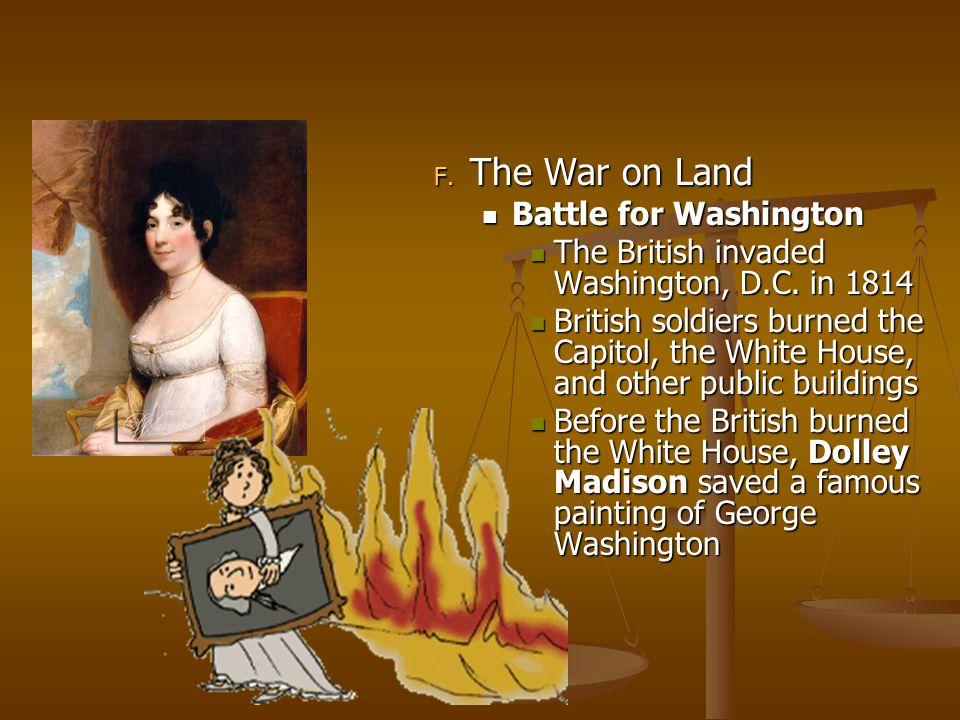 The War on Land Battle for Washington