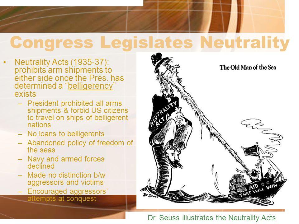 Congress Legislates Neutrality