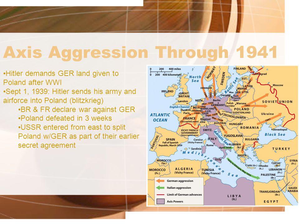 Axis Aggression Through 1941