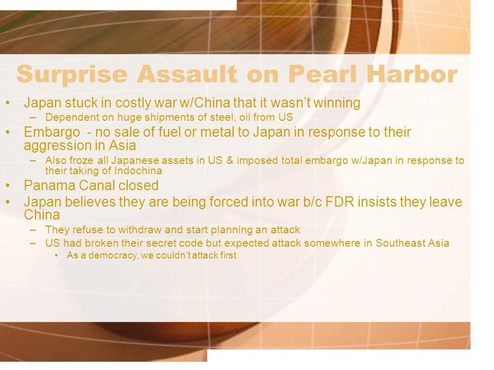 Surprise Assault on Pearl Harbor