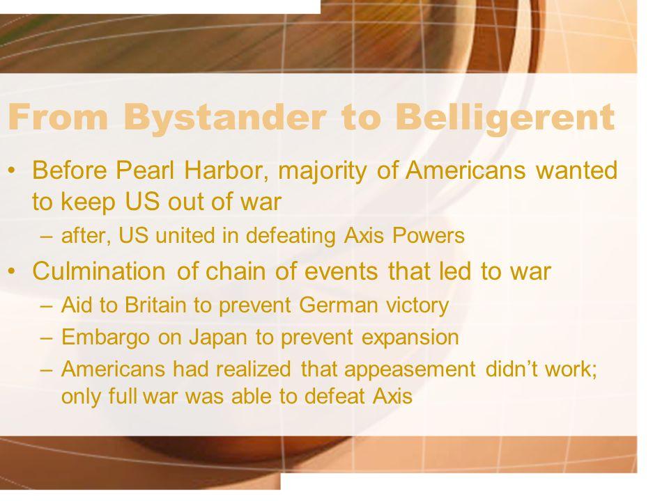 From Bystander to Belligerent