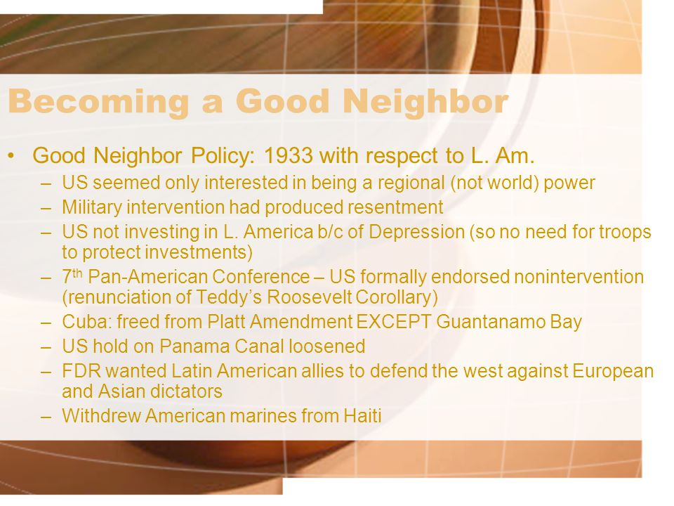 Becoming a Good Neighbor