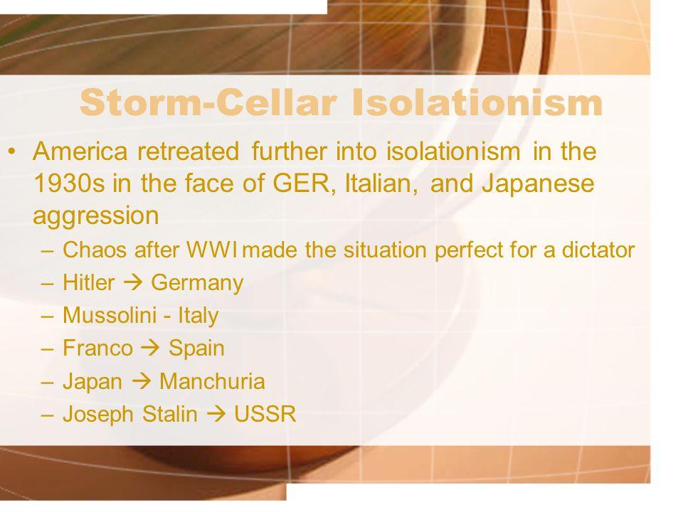 Storm-Cellar Isolationism