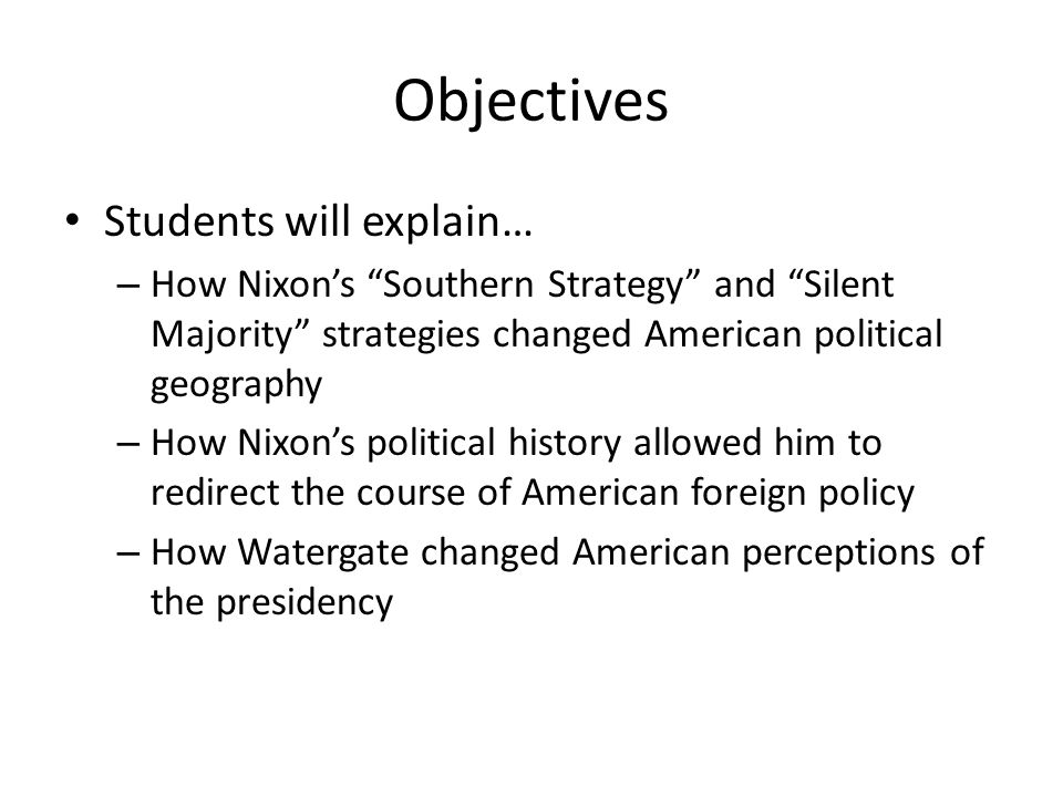 Objectives Students will explain…