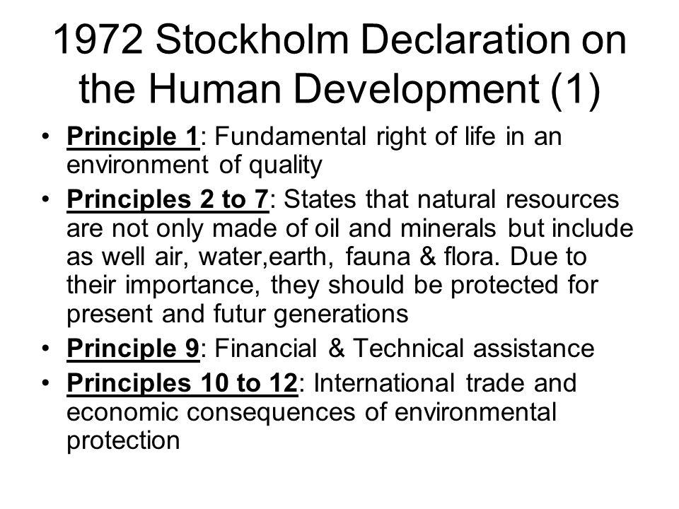 1972 Stockholm Declaration on the Human Development (1)