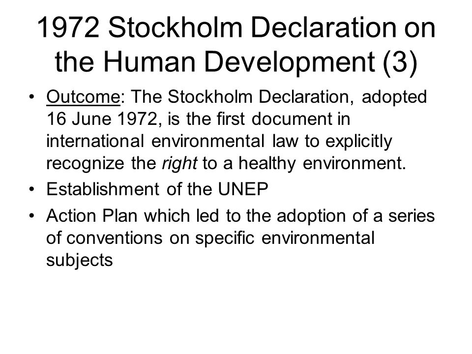 1972 Stockholm Declaration on the Human Development (3)