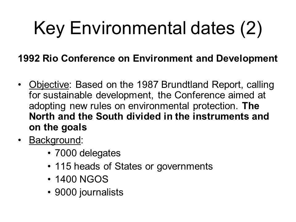 Key Environmental dates (2)