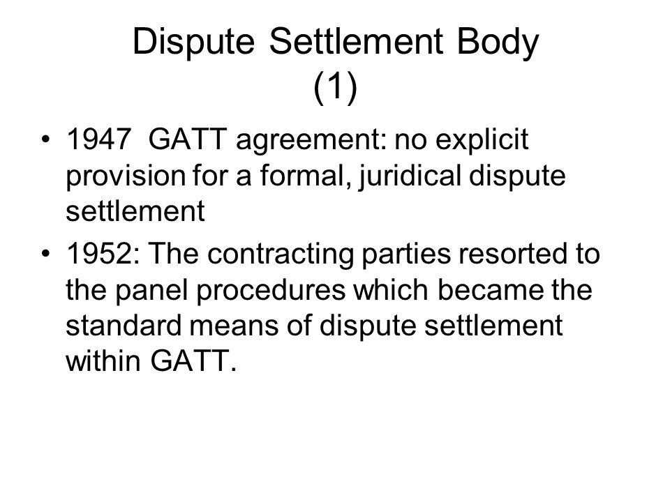 Dispute Settlement Body (1)