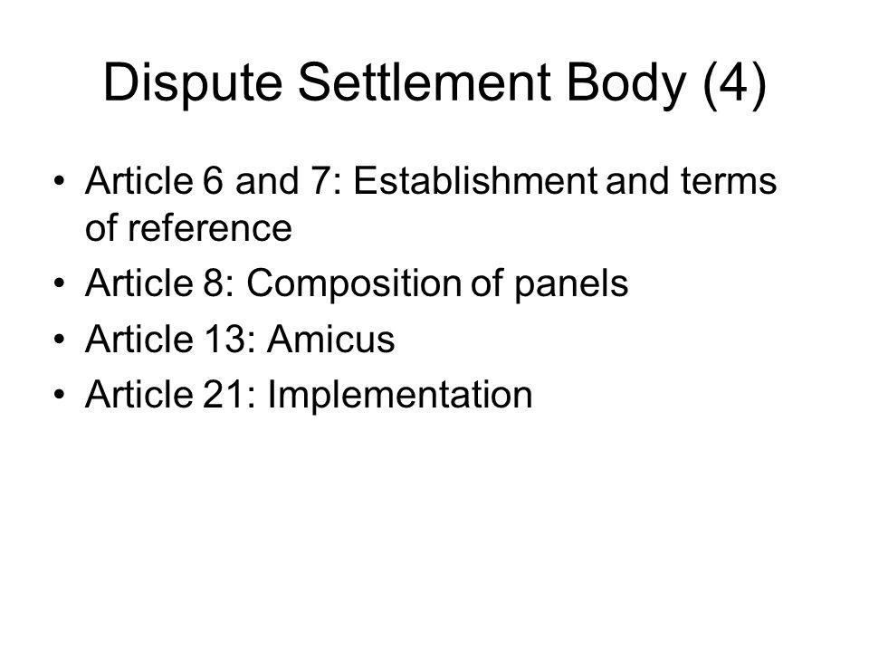 Dispute Settlement Body (4)