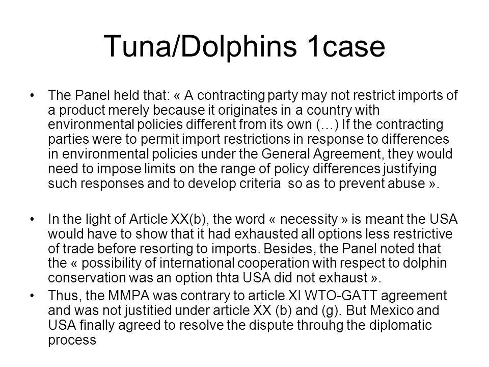 Tuna/Dolphins 1case