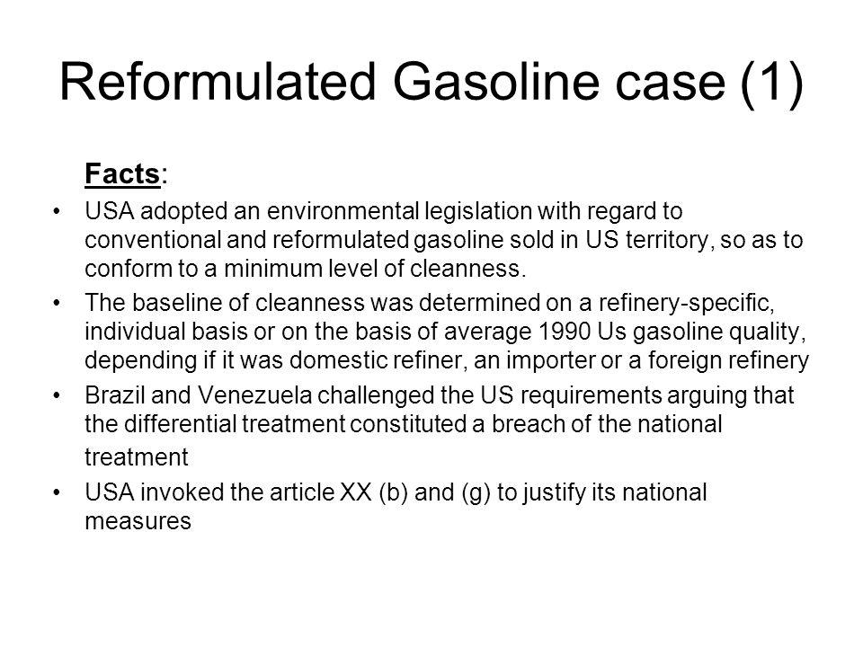 Reformulated Gasoline case (1)