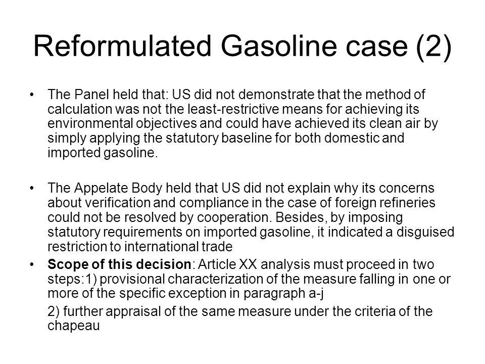 Reformulated Gasoline case (2)