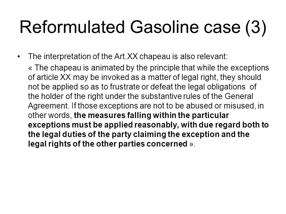Reformulated Gasoline case (3)