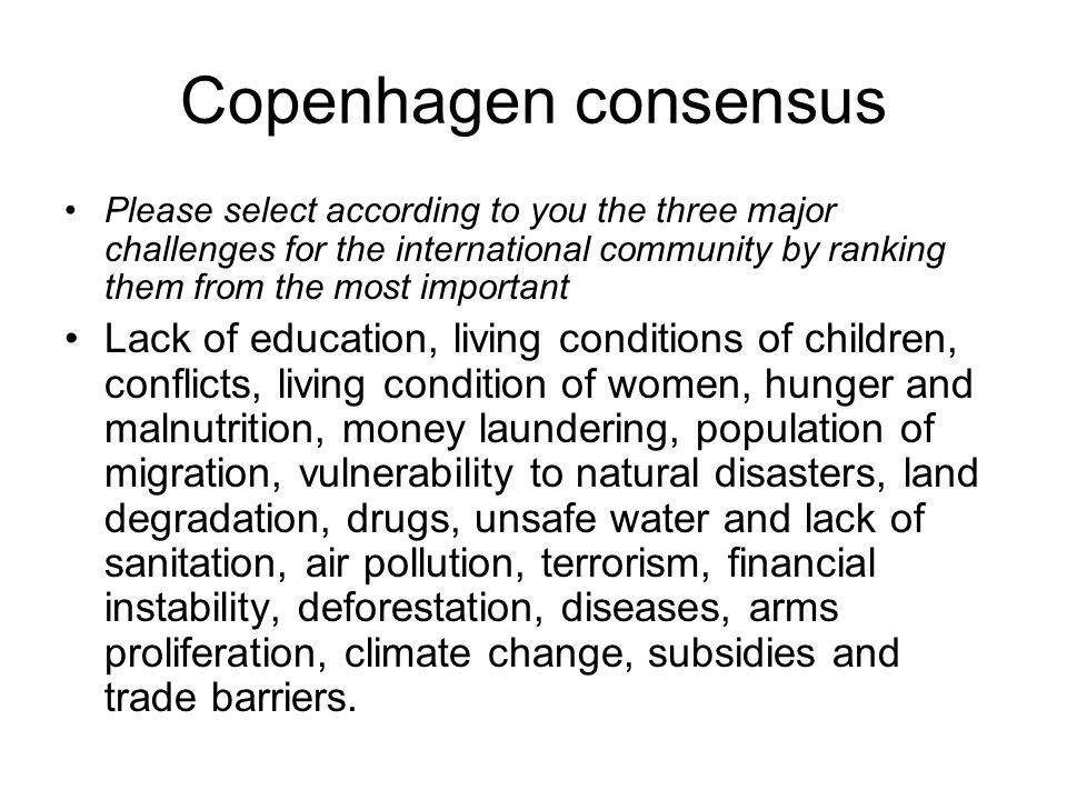 Copenhagen consensus