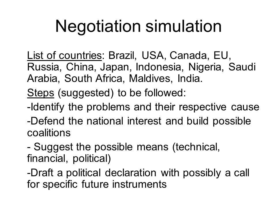 Negotiation simulation