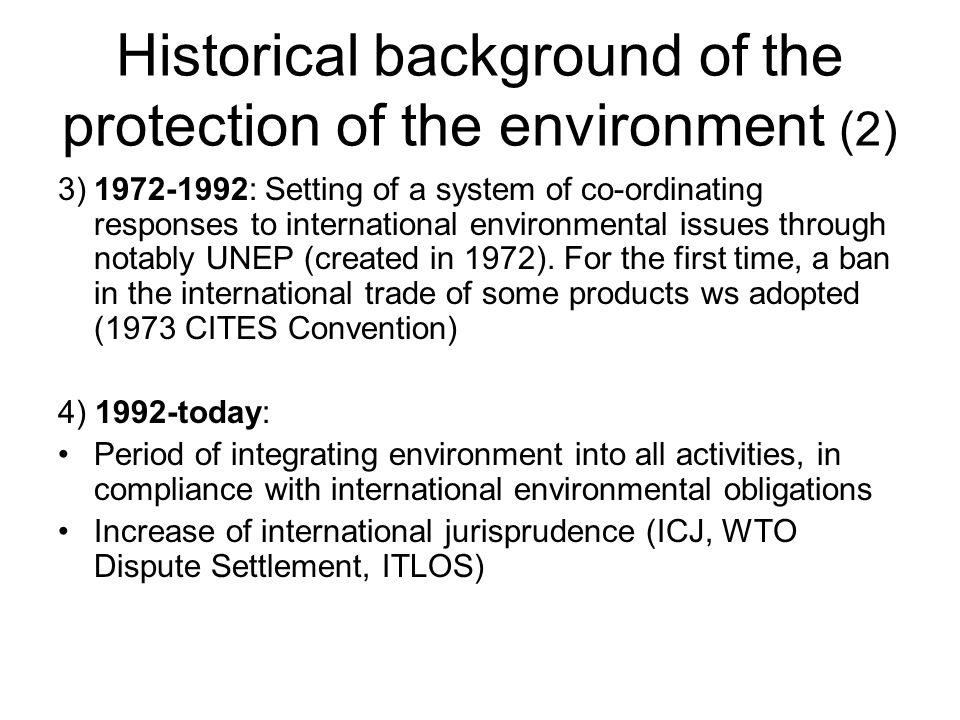 Historical background of the protection of the environment (2)
