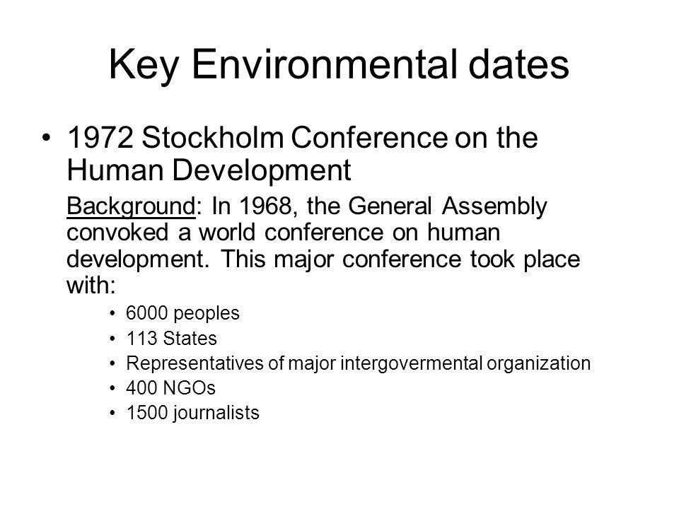 Key Environmental dates